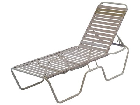 Windward Design Group Country Club Strap Aluminum Armless Chaise Lounge