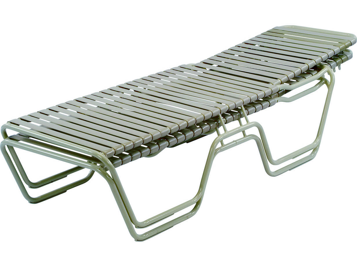 Windward design group country club strap aluminum skids for Aluminum strap chaise lounge
