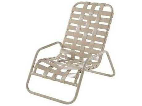 Windward Design Group Country Club Strap Aluminum Sand Chair Cross Weave