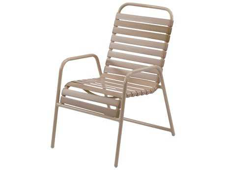 Windward Design Group Country Club Strap Aluminum Dining Arm Chair