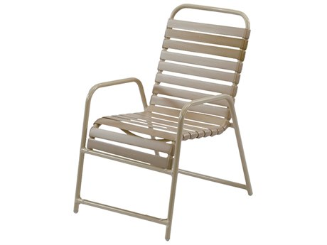 Windward Design Group Country Club Strap Aluminum Dining Chair Extra Front Brace