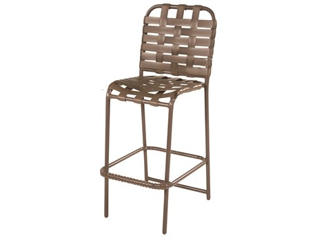 Windward Design Group Country Club Strap Aluminum Bar Chair Cross Weave