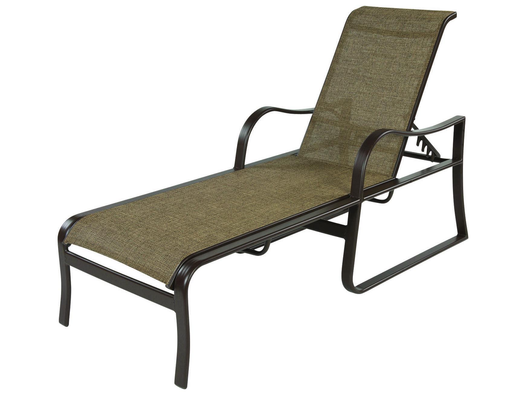 Windward design group corsica sling aluminum chaise lounge for Aluminum sling chaise lounge