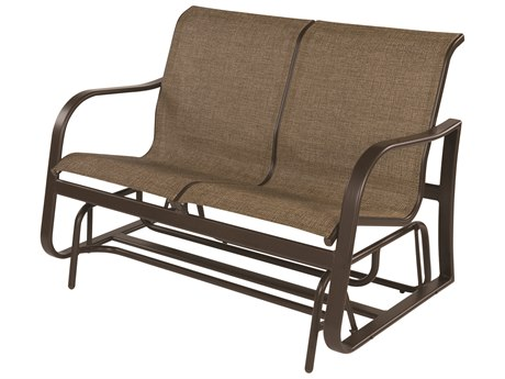 Windward Design Group Corsica Sling Aluminum Loveseat Glider