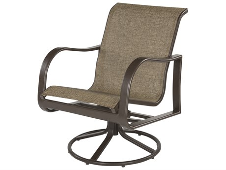 Windward Design Group Corsica Sling Aluminum Dining Swivel Rocker