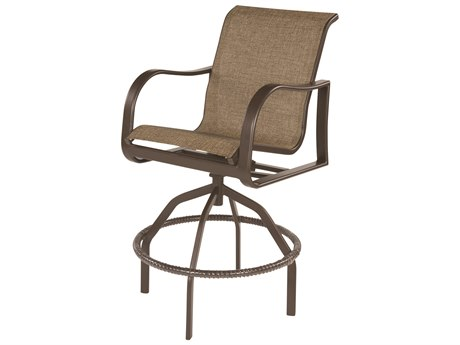 Windward Design Group Corsica Sling Aluminum Swivel Bar Chair