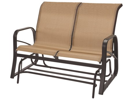 Windward Design Group Montego Bay Sling Aluminum Loveseat Glider