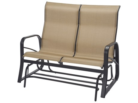 Windward Design Group Montego Bay Sling Aluminum High Back Loveseat Glider