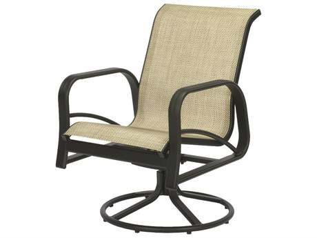 Windward Design Group Montego Bay Sling Aluminum Dining Swivel Rocker