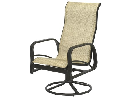 Windward Design Group Montego Bay Sling Aluminum High Back Swivel Rocker