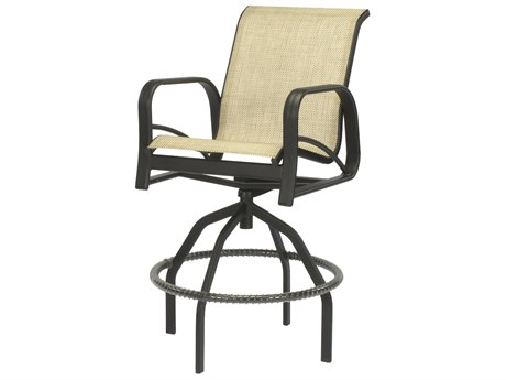 Windward Design Group Montego Bay Sling Aluminum Swivel Bar Chair