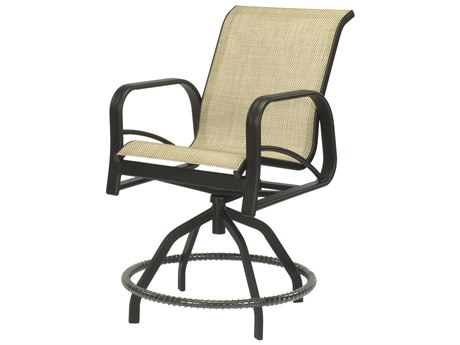 Windward Design Group Montego Bay Sling Aluminum Swivel Balcony Chair