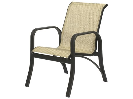 Windward Design Group Montego Bay Sling Aluminum Dining Arm Chair