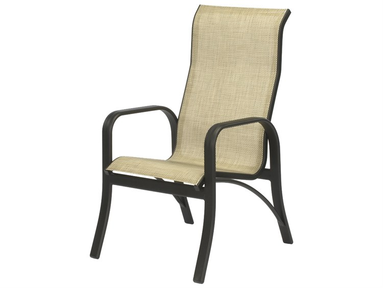 Windward Design Group Montego Bay Sling Aluminum High Back Dining Chair