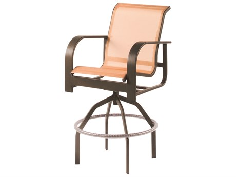 Windward Design Group Harbourage Sling Aluminum Swivel Bar Chair