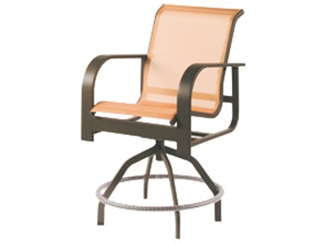 Windward Design Group Harbourage Sling Aluminum Swivel Balcony Chair