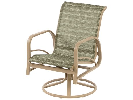 Windward Design Group Island Bay Sling Aluminum Dining Swivel Rocker