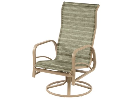 Windward Design Group Island Bay Sling Aluminum High Back Swivel Rocker