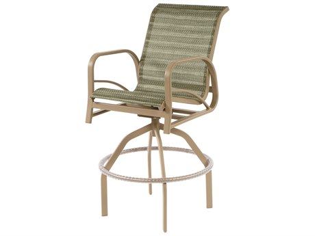 Windward Design Group Island Bay Sling Aluminum Swivel Bar Chair
