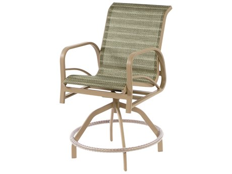 Windward Design Group Island Bay Sling Aluminum Swivel Balcony Chair