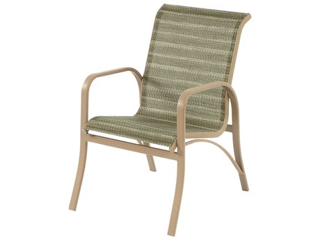 Windward Design Group Island Bay Sling Aluminum Dining Arm Chair WINW0950
