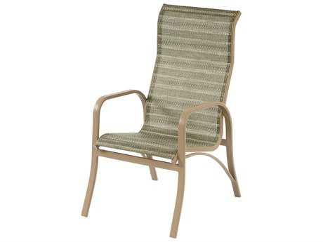 Windward Design Group Island Bay Sling Aluminum High Back Dining Chair
