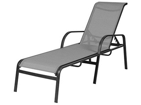 Windward Design Group Ocean Breeze Sling Aluminum Chaise Lounge Straight Legs