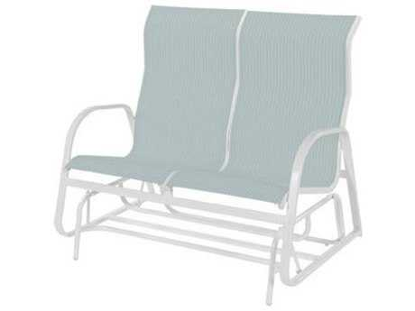 Windward Design Group Ocean Breeze Sling Aluminum High Back Loveseat Glider