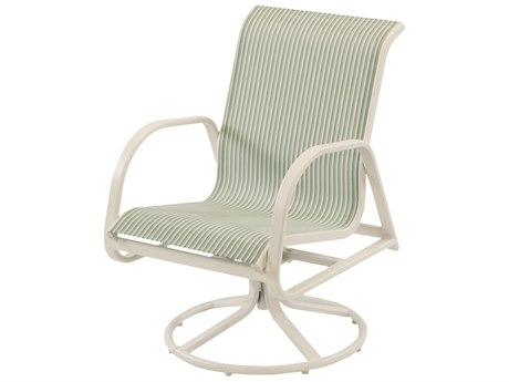 Windward Design Group Ocean Breeze Sling Aluminum Dining Swivel Rocker