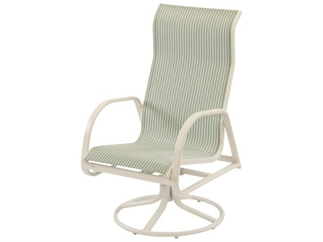 Windward Design Group Ocean Breeze Sling Aluminum High Back Swivel Rocker