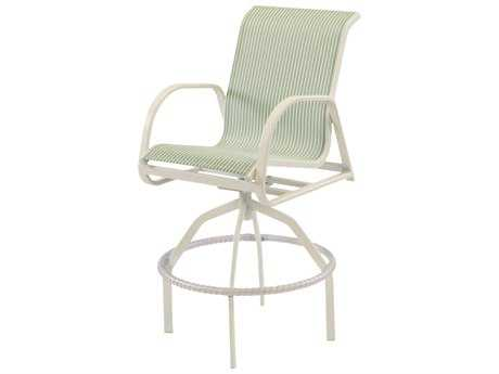 Windward Design Group Ocean Breeze Sling Aluminum Swivel Bar Chair