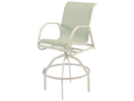 Windward Design Group Ocean Breeze Sling Aluminum Swivel Bar Chair WINW1537