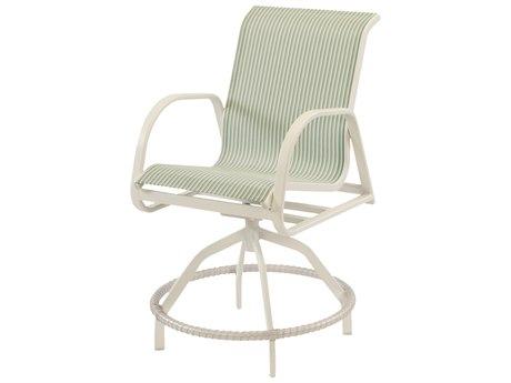 Windward Design Group Ocean Breeze Sling Aluminum Swivel Balcony Chair
