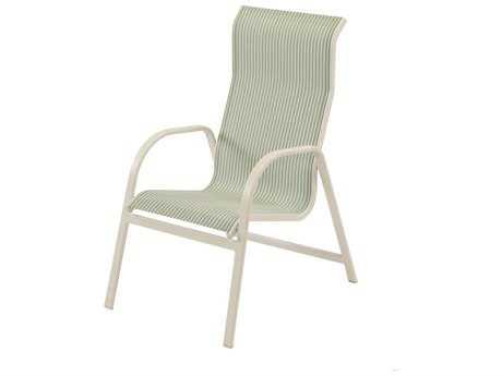 Windward Design Group Ocean Breeze Sling Aluminum High Back Dining Chair
