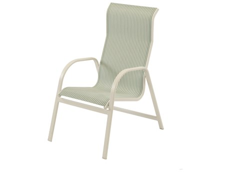 Windward Design Group Ocean Breeze Sling Aluminum High Back Dining Chair WINW1550HB