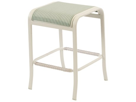 Windward Design Group Ocean Breeze Sling Aluminum Backless Bar Stool