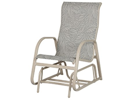 Windward Design Group Ocean Breeze Sling Aluminum Single Hight Back Glider Lounge Chair