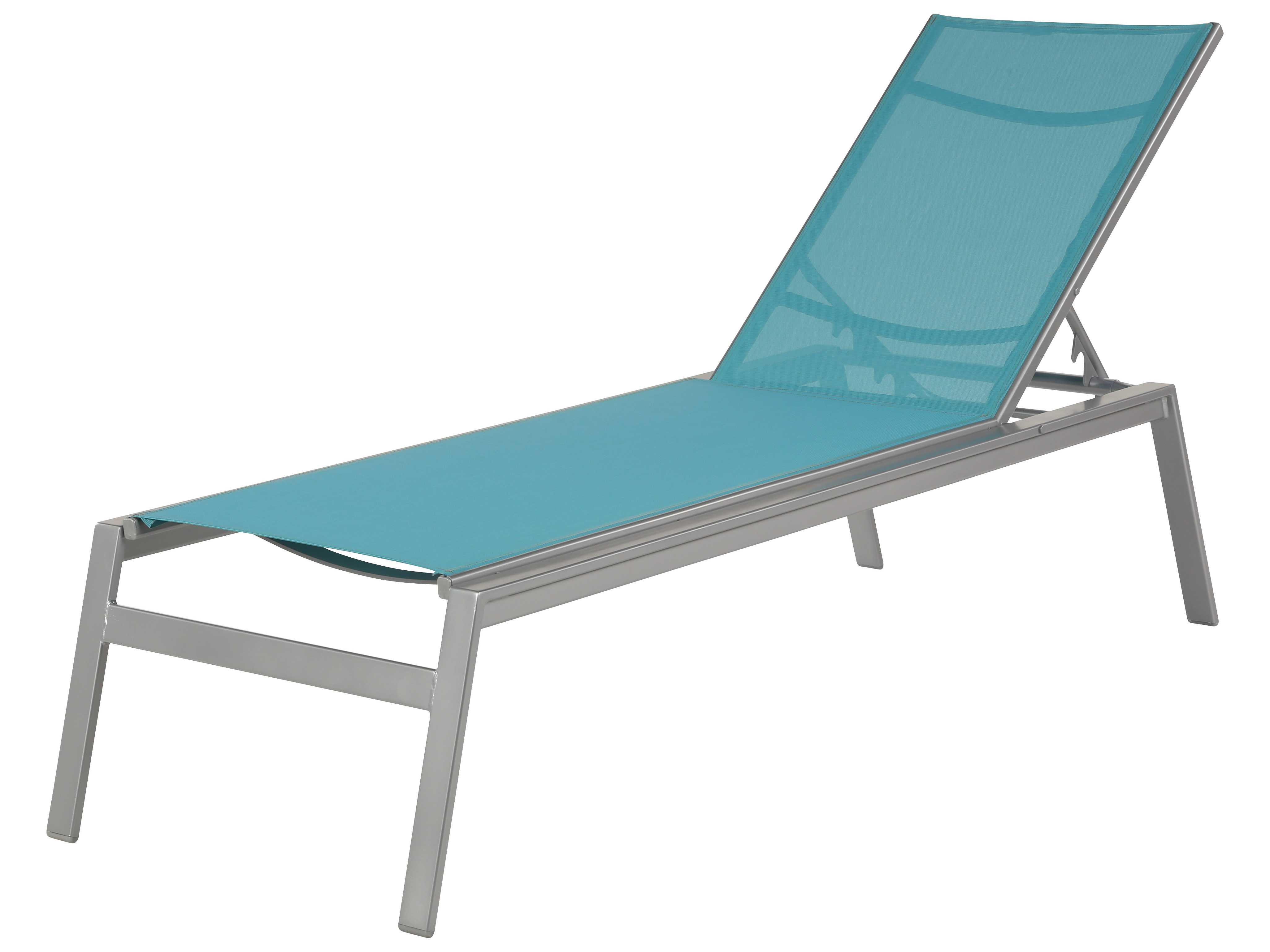 Windward design group skyway sling aluminum armless chaise for Aluminum sling chaise lounge