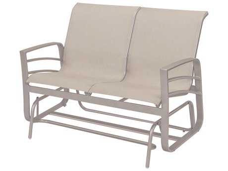 Windward Design Group Skyway Sling Aluminum Loveseat Glider