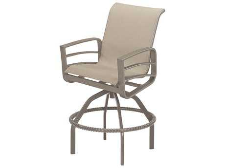 Windward Design Group Skyway Sling Aluminum Swivel Bar Chair