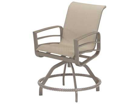 Windward Design Group Skyway Sling Aluminum Swivel Balcony Chair
