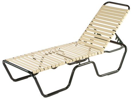 Windward Design Group Neptune Strap Aluminum Skids Chaise Lounge
