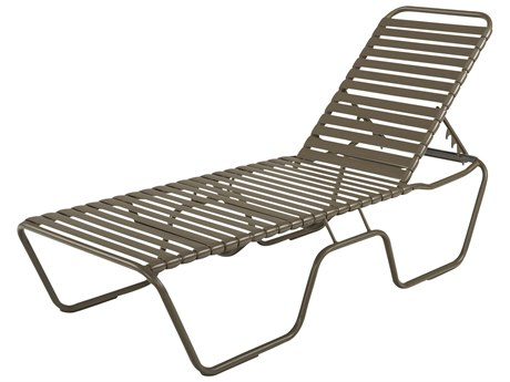 Windward Design Group Neptune Strap Aluminum Skids Chaise Lounge 18 Seat Height