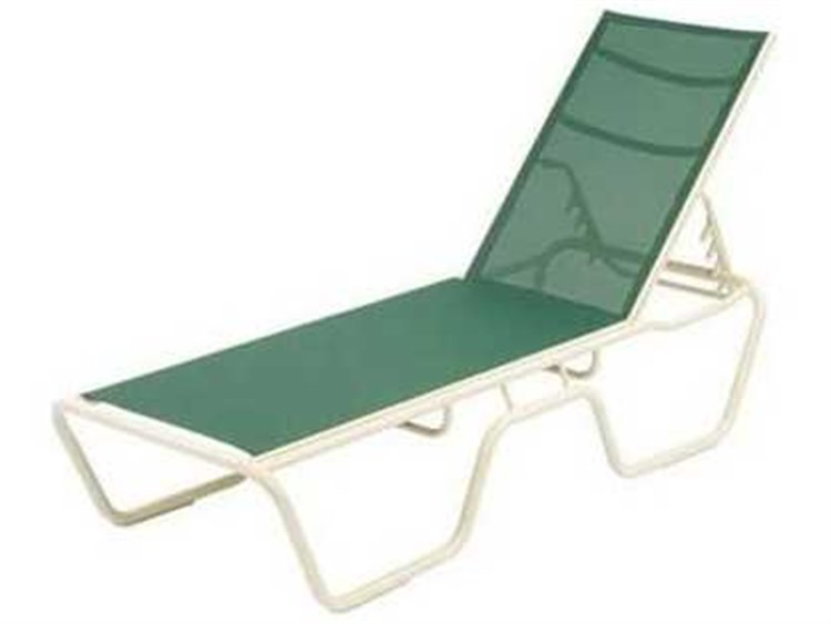 Windward Design Group Neptune Sling Aluminum Chaise Lounge 18 Seat Height PatioLiving