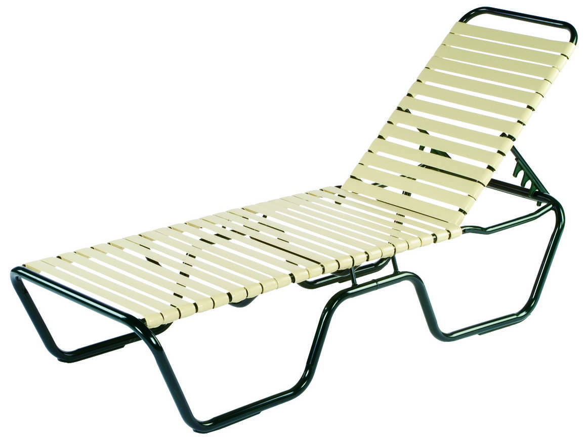 Windward design group neptune strap aluminum skids chaise for Chaise longue textilene alu
