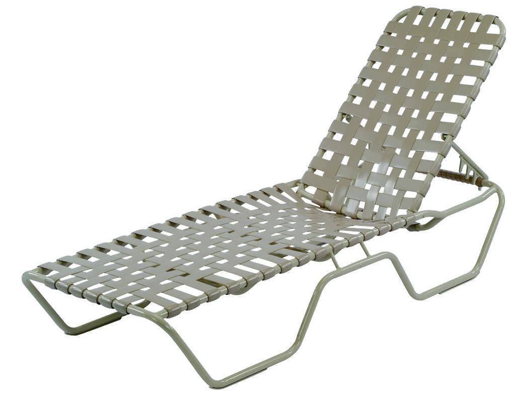 Windward design group neptune strap aluminum chaise lounge for Aluminum strap chaise lounge