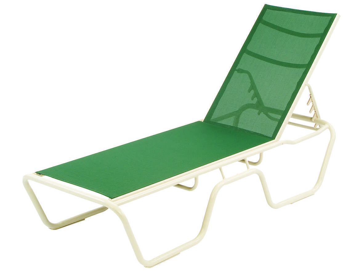 Windward design group neptune sling aluminum chaise lounge for Chaise lounge construction
