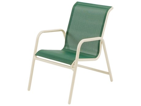 Windward Design Group Neptune Sling Aluminum Dining Arm Chair