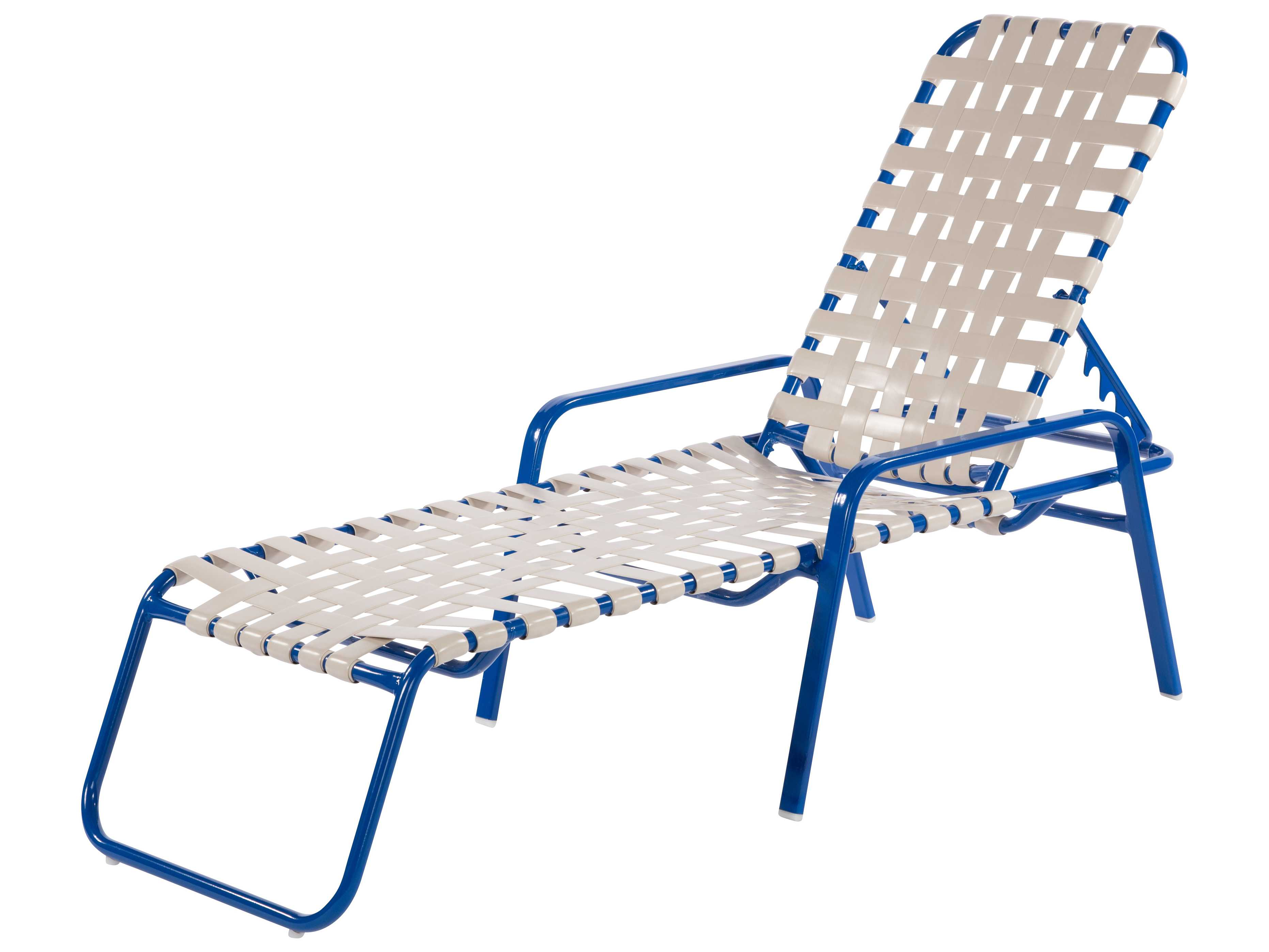Windward design group regatta strap aluminum chaise lounge for Aluminum strap chaise lounge