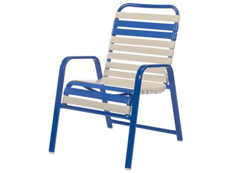 Windward Design Group Regatta Strap Aluminum Dining Arm Chair